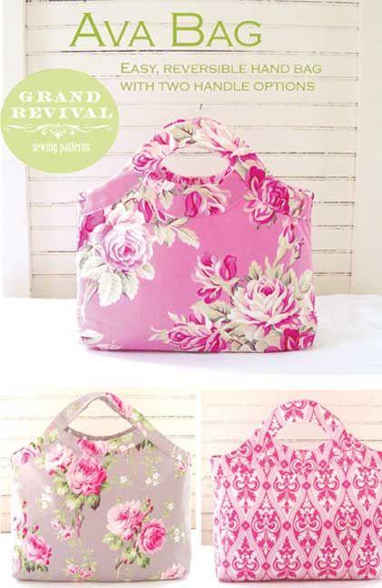 Ava Bag Sewing Pattern | Taschen nähen, Nähen und Körbchen