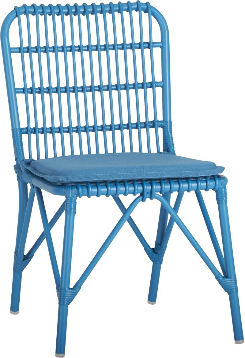 Crate and barrel outdoor furniture sale - Kruger Turkish Tile Dining Chair With Sunbrella Turkish Tile Cushion Crate And Barrel