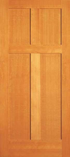 Bismark Vertical Grain Douglas Fir Interior Doors 4 Panel 1 3 8