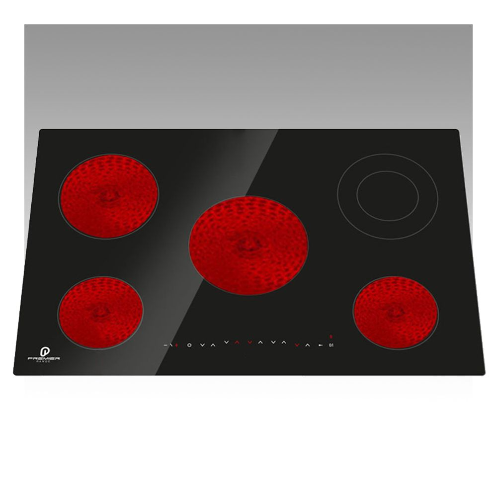70cm 5 Ring Frameless Electric Ceramic Built In Touch Button Hob