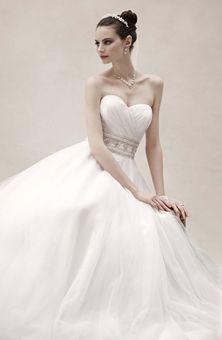 Brides Magazine: Oleg Cassini at David's Bridal : Style No. CPK440 : Wedding Dresses Gallery