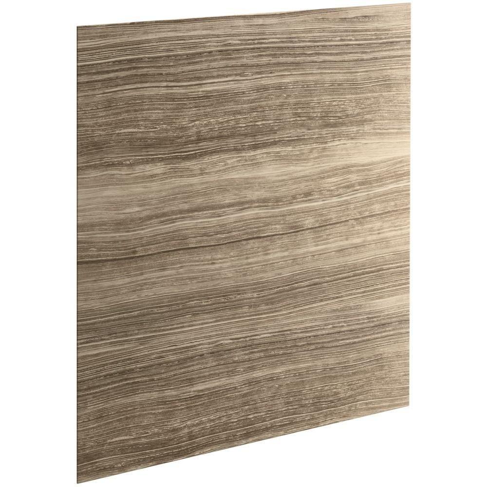 Kohler Cograph 0 3125 In X 60 72 1 Piece Bath Shower Wall Panel Veincut Sandbar For Showers