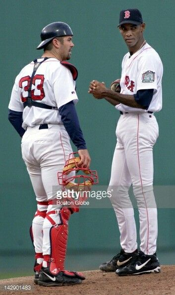 Jason Varitek And Ramon Martinez Baseball Dodgers