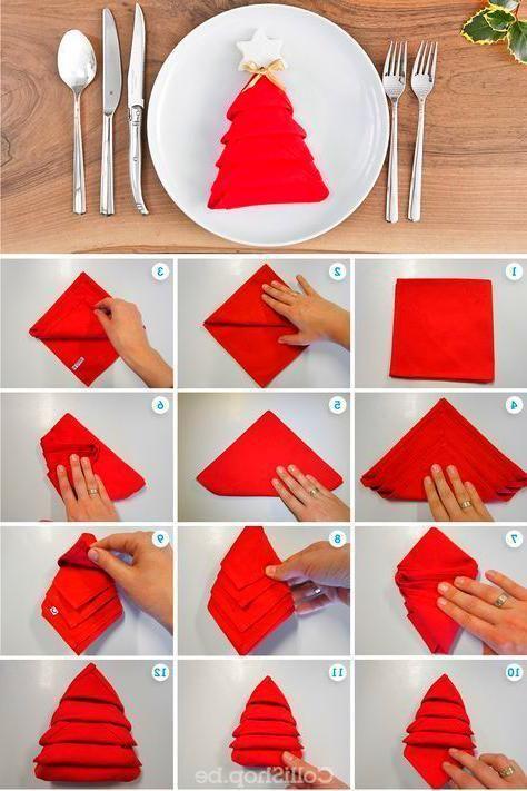 Napkin Folding Christmas Tree Napkin Fold Christmas Tree Napkins Christmas Napkins
