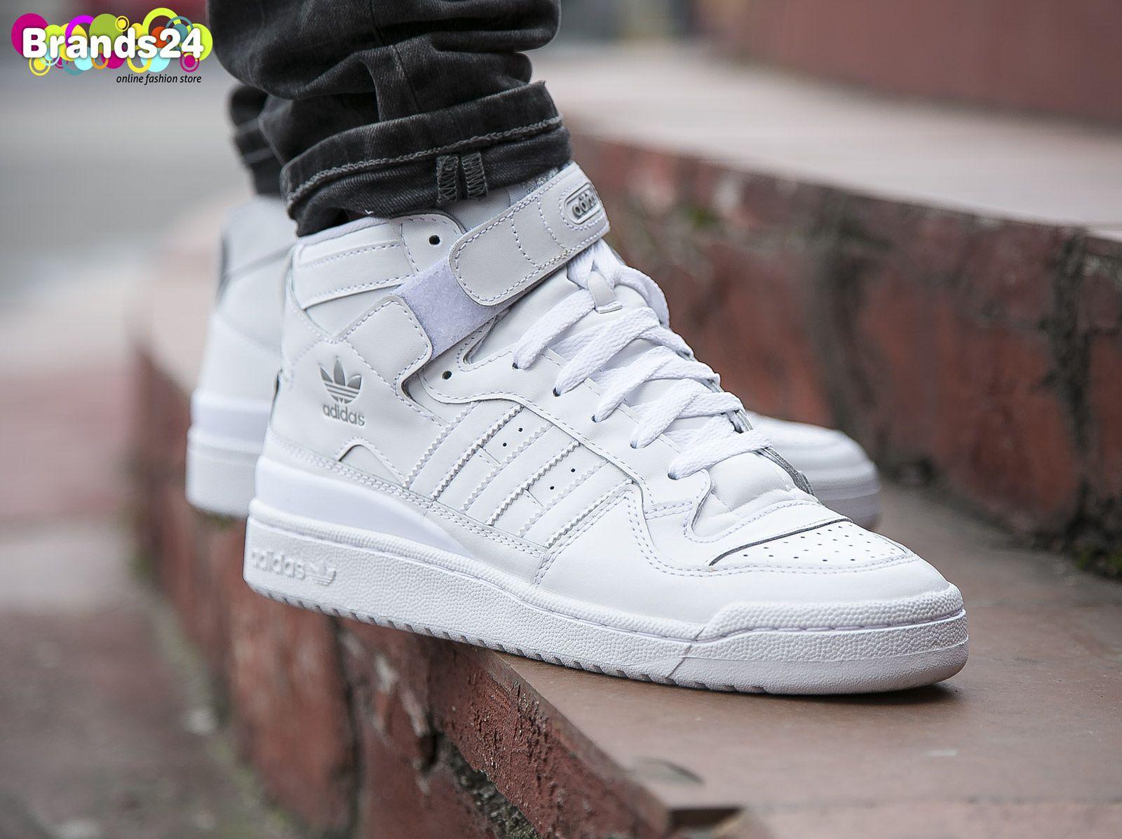 new styles bf66e 594f9 Adidas Originals FORUM MID Triple White