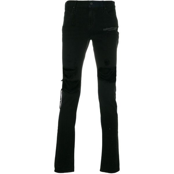 distressed skinny jeans - Black Rta Outlet Locations noW0MAy1f