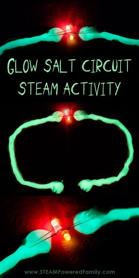 Easy Electrical Circuit STEAM Activity - GLOW SALT CIRCUITS #stemactivitieselementary