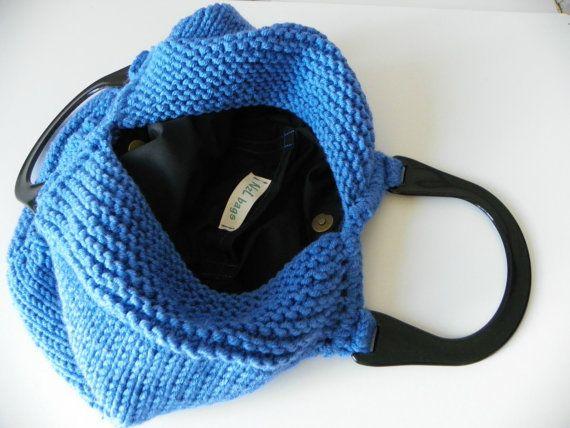 Maglieria Tote donne moda autunno toni Knit tote borsa di NzLbags