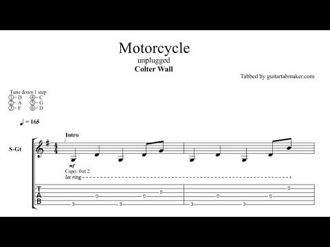 colter wall motorcycle guitar tab sample music on colter wall id=29923