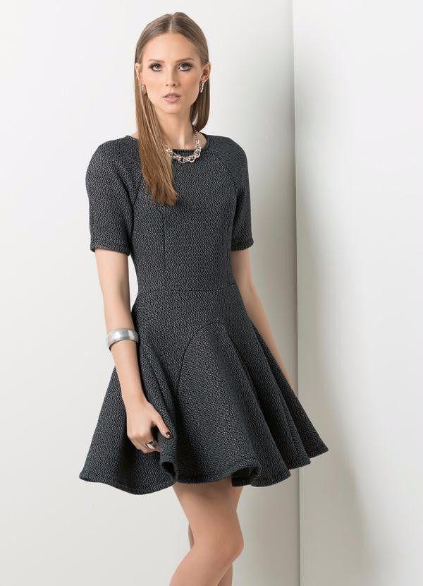 5a76749bf vestido feminino inverno em moletom saia gode manga americana ...