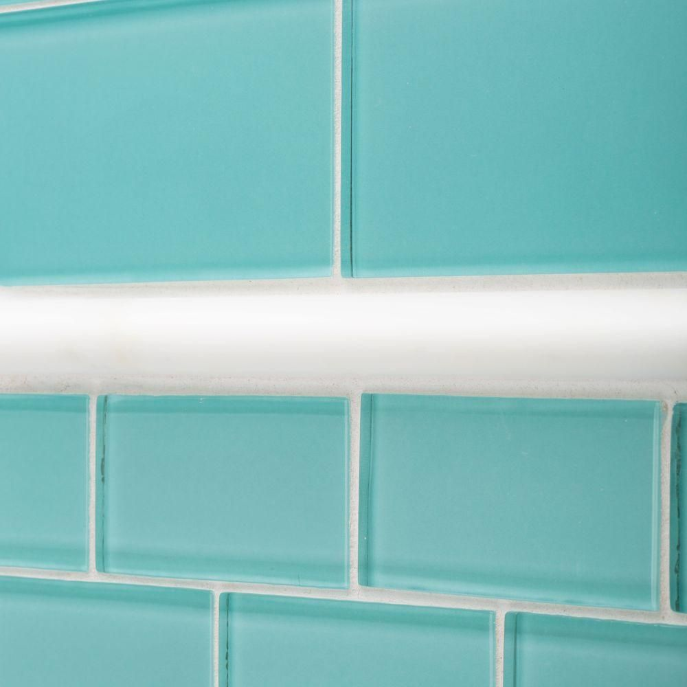 Jeffrey Court Tiffany May 3 in. x 6 in. Glass Wall Tile-99321 - The ...