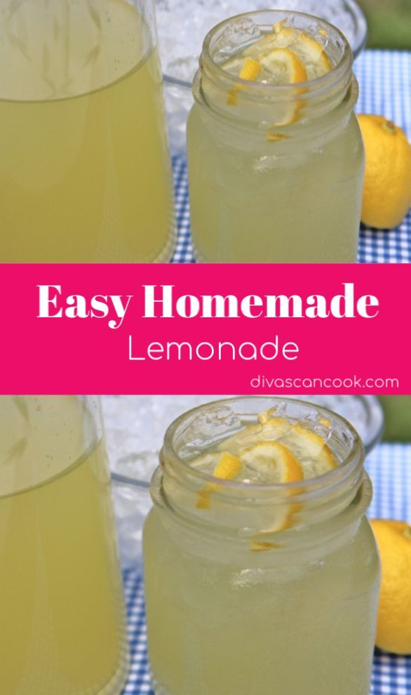 Easy Homemade Lemonade- My FAVORITE #homemadelemonaderecipes