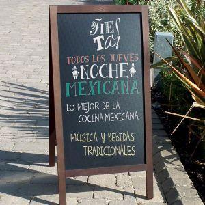 Pizarra caballete peque a para exterior de bar restaurante hosteler a by menu shop pizarras - Pizarras de bar ...