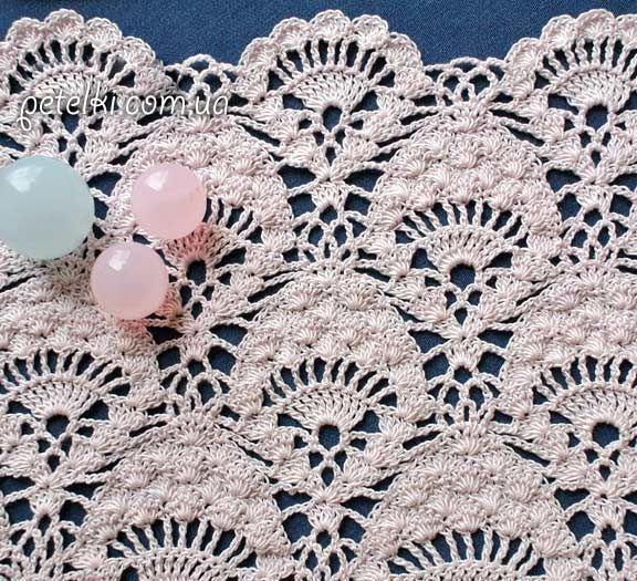 Delicadezas en crochet Gabriela: Modelo de punto piña patrón ...