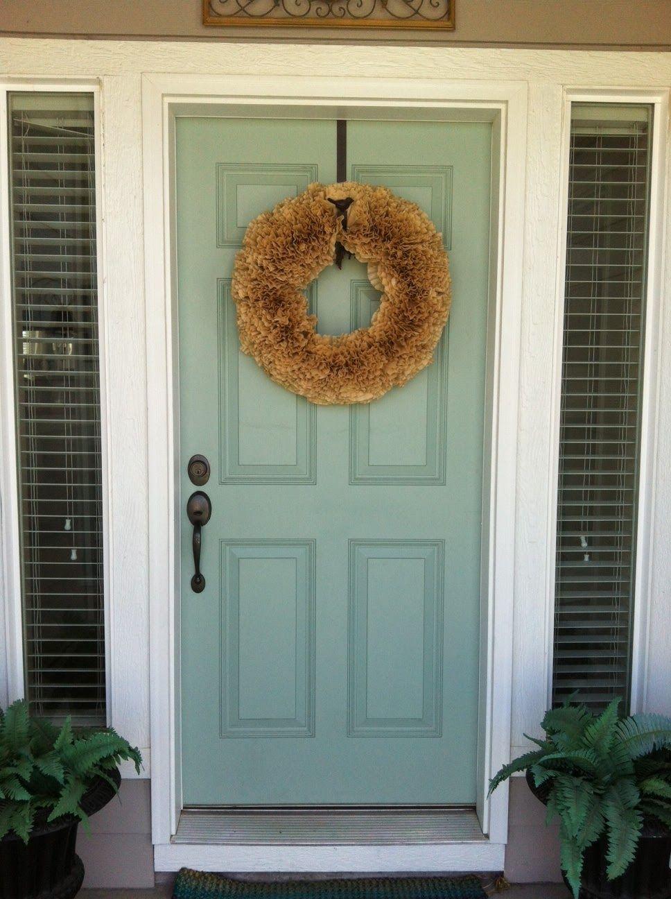 Beige house front door paint color schemes blue is - Exterior door paint colors ...