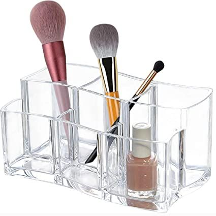material  the clear makeup brush holder is made out of