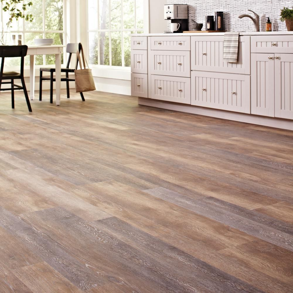 Plastic Flooring For Home: LifeProof Walton Oak Multi-Width X 47.6 In. Luxury Vinyl