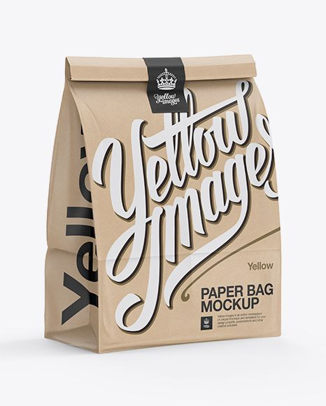 Download Glossy Kraft Paper Bag Mockup Halfside View In Bag Sack Mockups On Yellow Images Object Mockups In 2020 Mockup Free Psd Bag Mockup Psd Mockup Template