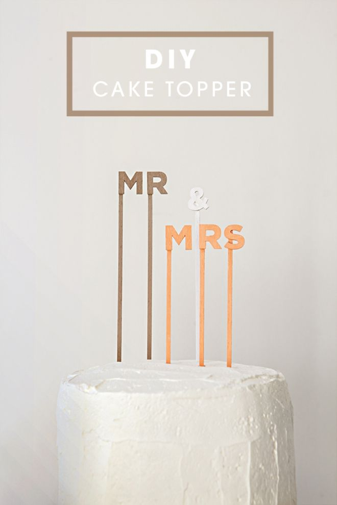 Personalize your cake topper with this fun DIY!