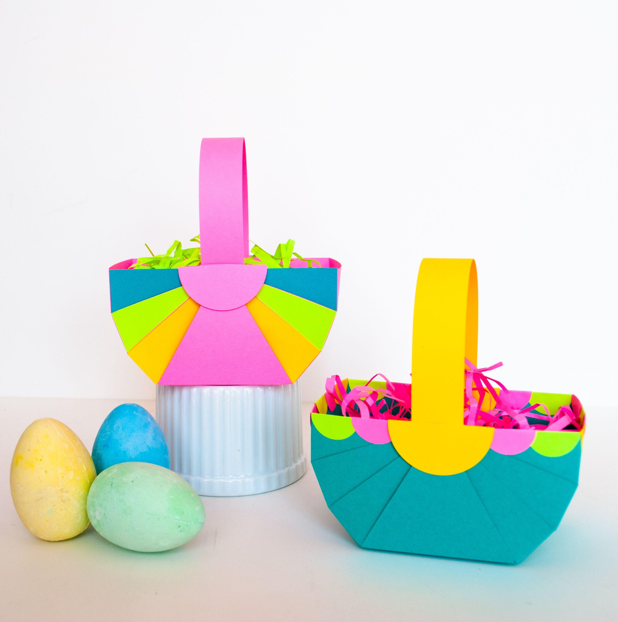 Easy diy paper easter basket diy paper easter baskets and easter easy diy paper easter basket and astrobrights paper giveaway negle Images