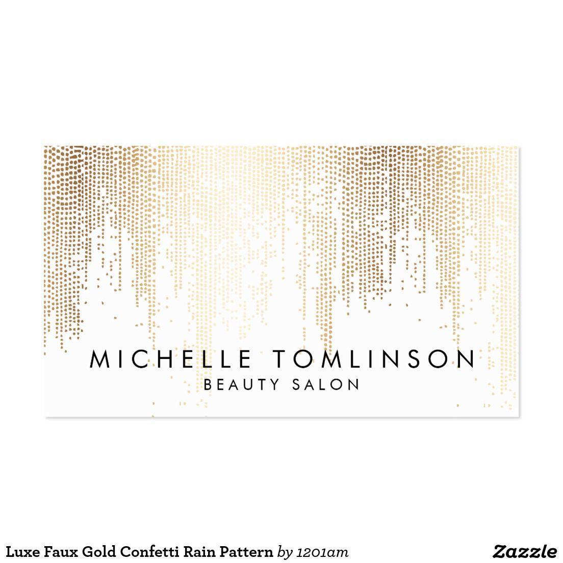 Luxe faux gold confetti rain pattern business card gold confetti luxe faux gold confetti rain pattern business card magicingreecefo Images