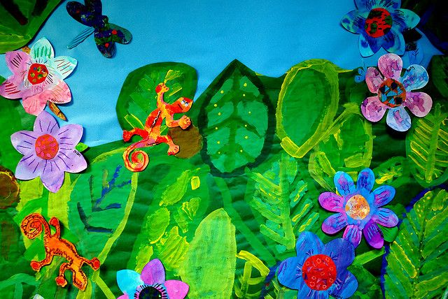 rainforest collage | 2-3 | Jungle art, Jungle crafts, Rainforest