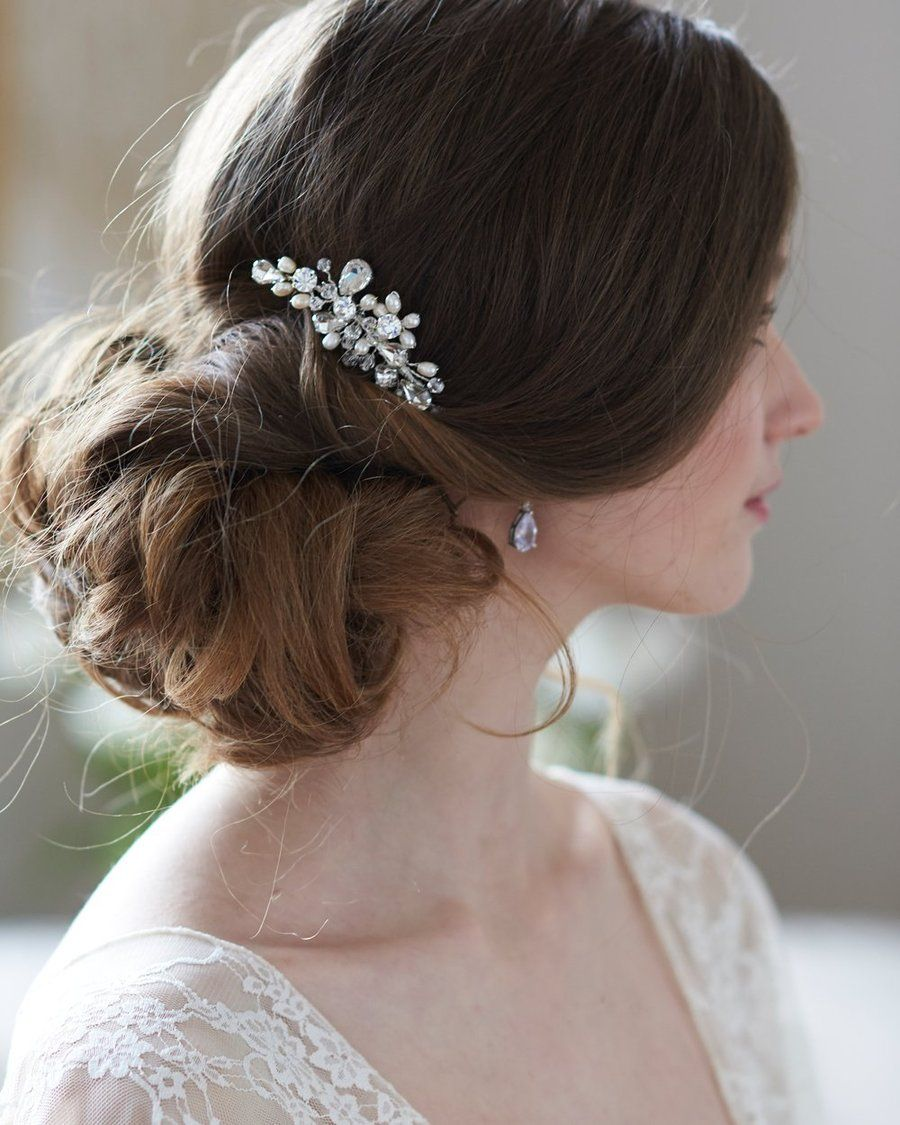 elora back comb in 2019 | wedding hair | bridal comb, bridal