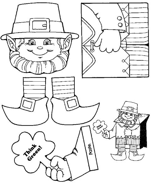 Leprechaun Bag Puppet Free Printable Available At Just 4 Teachers Blog St Patrick Day Activities St Patrick S Day Crafts St Patricks Day Crafts For Kids