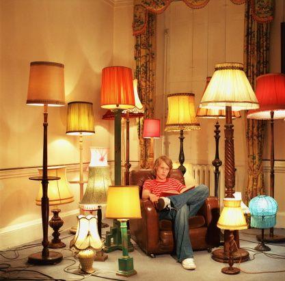 Lamp shade collector!