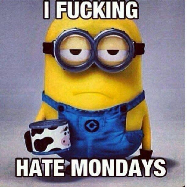 true true, but i also hate every other day of the week except Saturday and Sunday :)