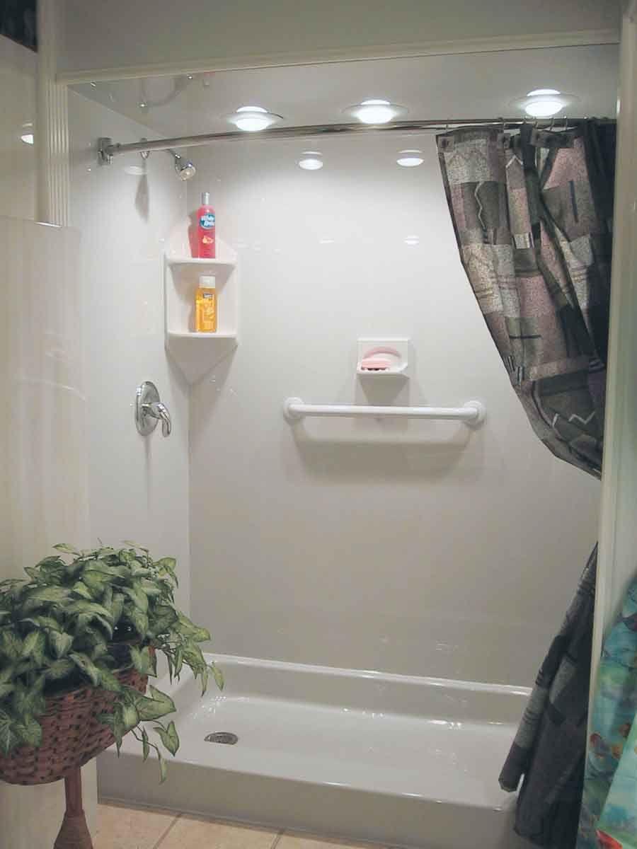 Bathroom Bathroom Fiberglass Shower Pan Shower With Curtain