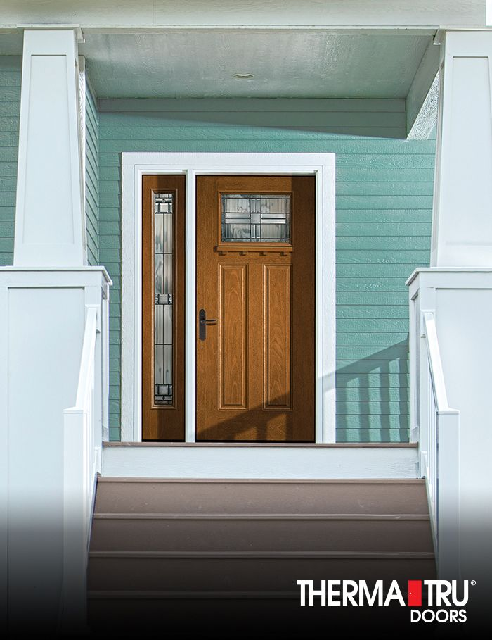 Therma Tru Fiber Classic Mahogany Collection Fiberglass Entry Door