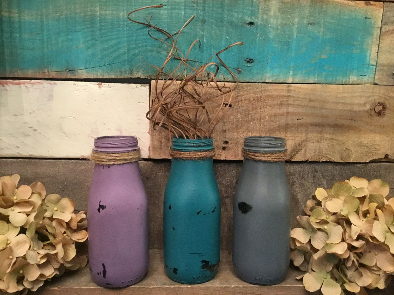 3 milk bottle vases shabby chic decor table centerpiece rustic 3 milk bottle vases shabby chic decor table centerpiece rustic decor distressed reviewsmspy