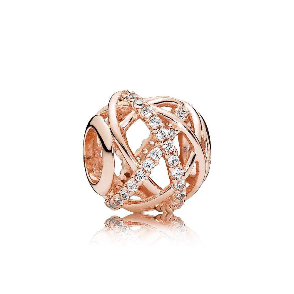 essence hope end beginning the pave with set and without or of rose stones this circle wholeness field symbolizes charm perfection clear dangle pandora sparkling disc conveys infinity a cz