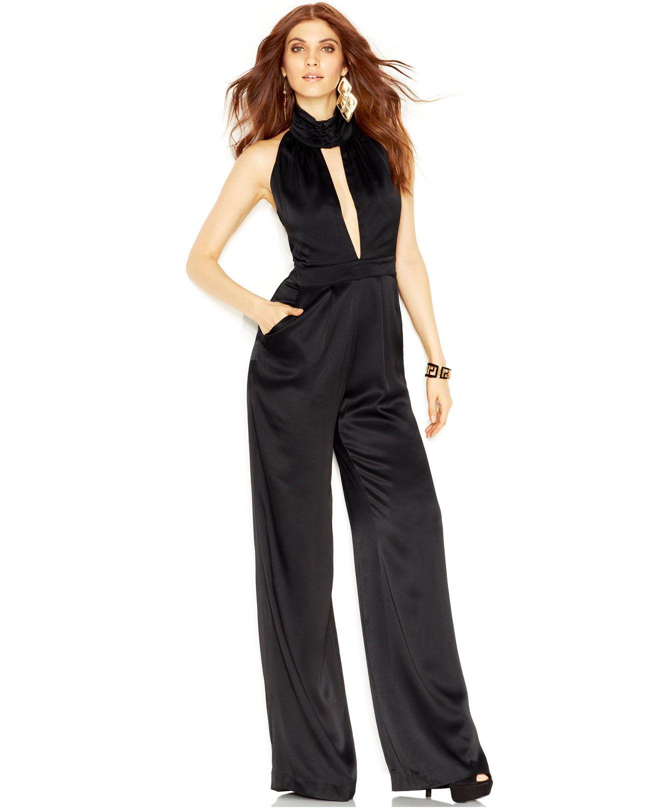 fbf0c1f2809c GUESS Sleeveless Halter-Neck Jumpsuit - Pants - Women - Macy s