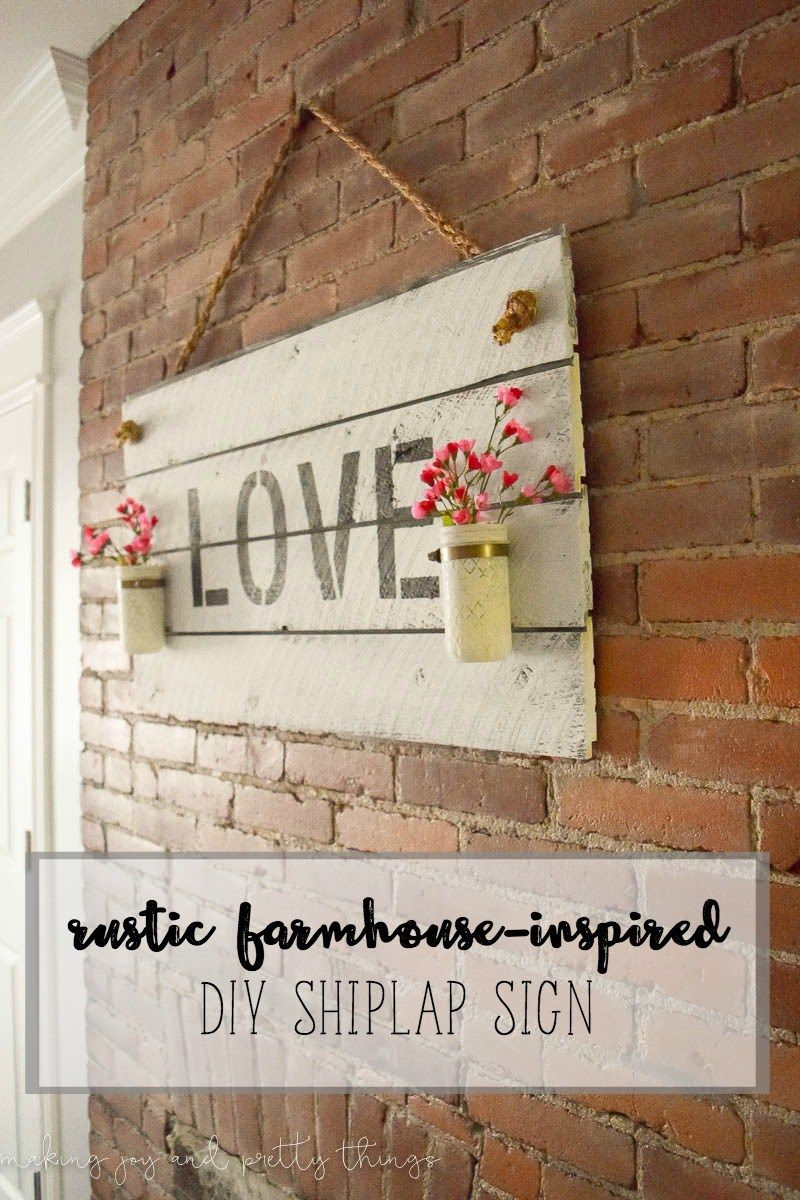 Rustic farmhouse inspired diy shiplap sign best rustic for How does fixer upper actually work