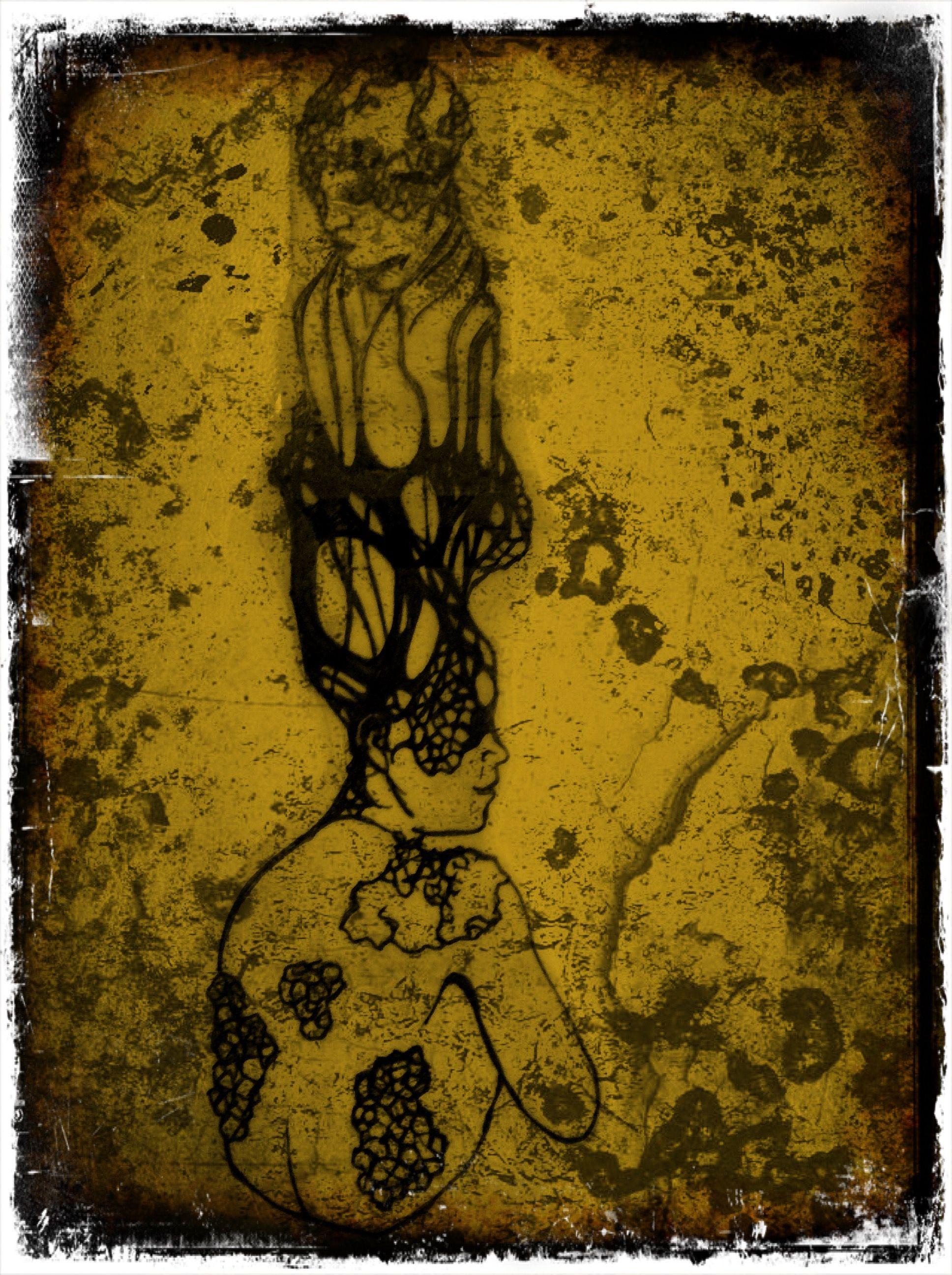 """extensions"" screenprint/desing by Drieghe Dimitri"