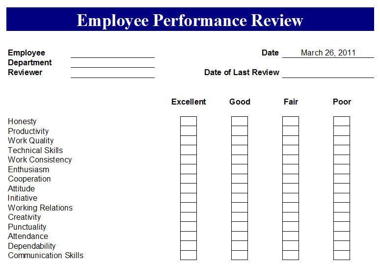 Employee performance report template also work pinterest rh