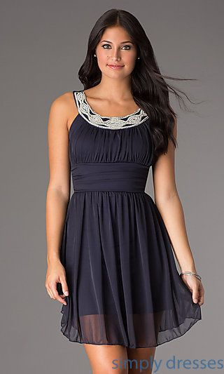 Short Sleeveless Scoop Neck Dress At Simplydresses Simply