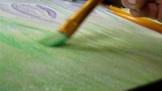 Paint step by step crocus flowers - YouTube