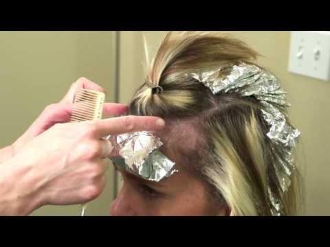 Foil color techniques // Paint Between hair coloring - YouTube ...
