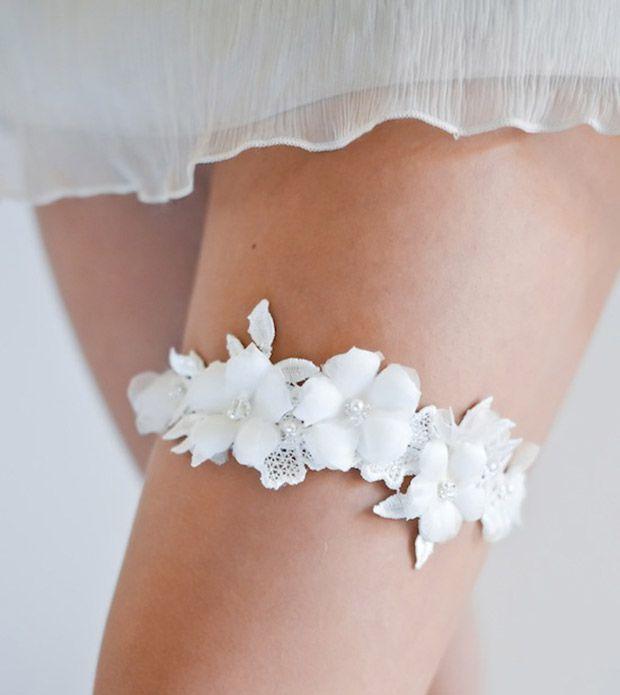 Unique Wedding Garter: Stuff We Love: Percy Handmade Wedding Garters
