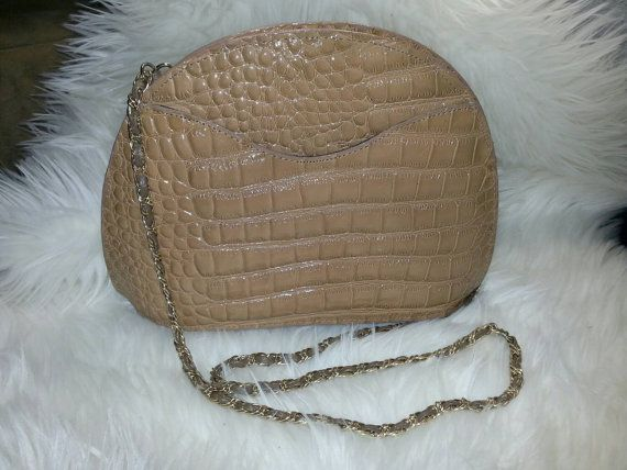REDUCED-Vintage Faux Alligator Leather by amayasgroovyboutique