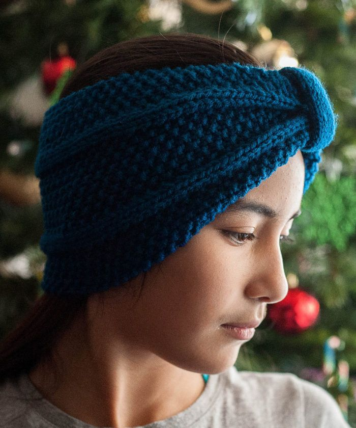Free Knitting Pattern For Winter Blues Earwarmer This Headband Is