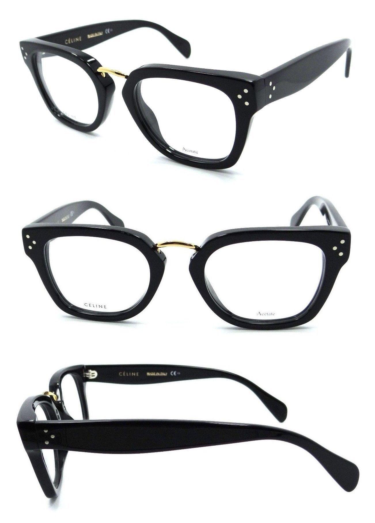 a61996e16360 Eyeglass Frames 180957  Celine Rx Eyeglasses Frames Cl 41351 807 48-21-145  Black Made In Italy -  BUY IT NOW ONLY   139.4 on  eBay  eyeglass  frames   celine ...
