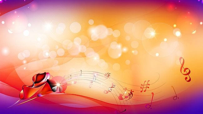 Passion Music Yellow Background Material