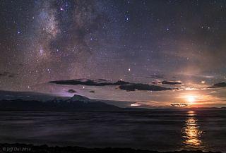 Lake Manasarovar at night