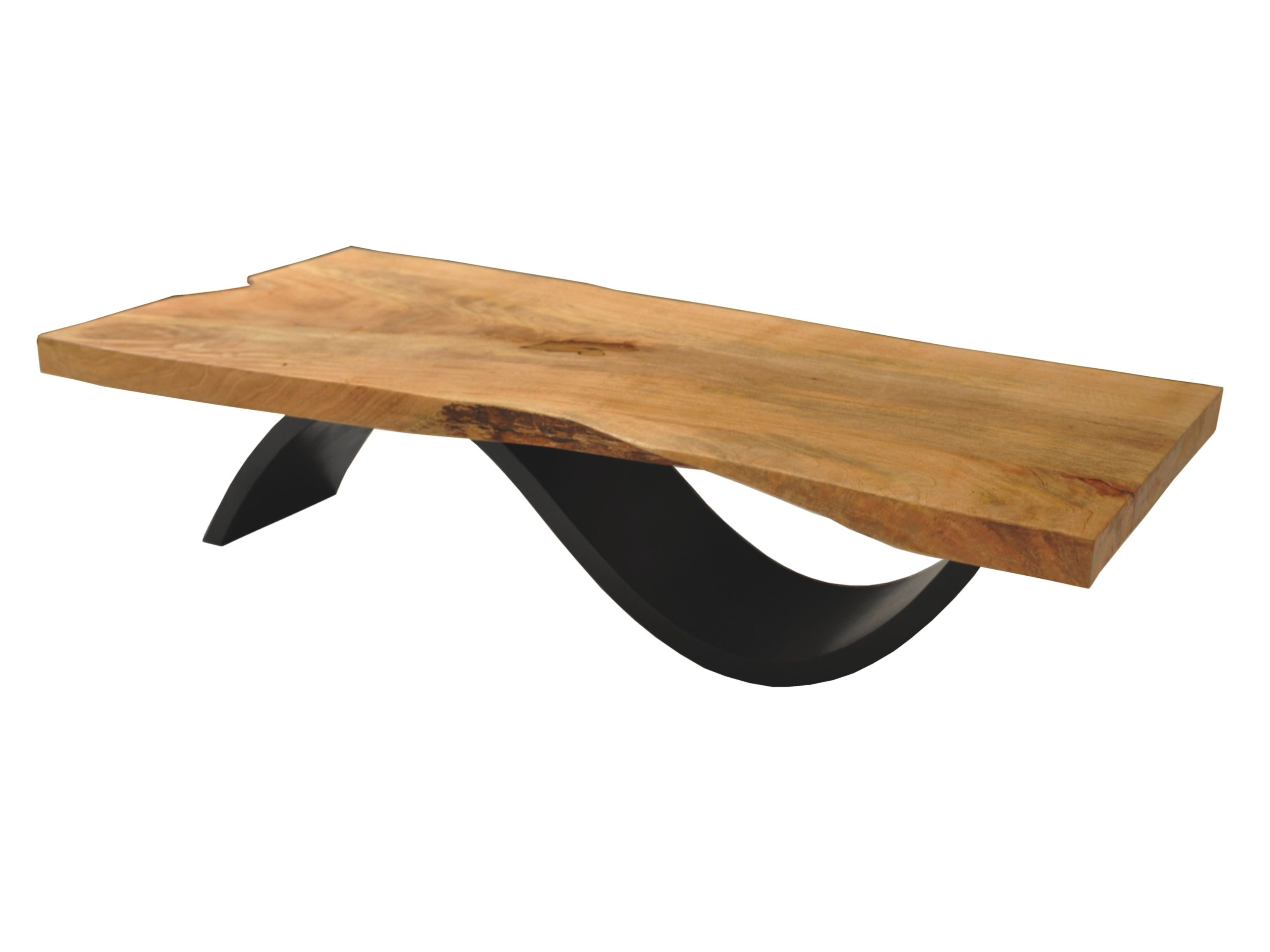 Brasilia Coffee Table Solid Wood Top Veneered Base Solid Wood Live Edge Coffee Table Made With A Single Slab Of Reclai Couchtisch Holz Couchtisch Tisch