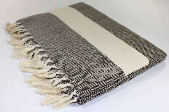 Oversized Beach Blanket Picnic Blanket Throw by TurkishLinenTowels, $69.95
