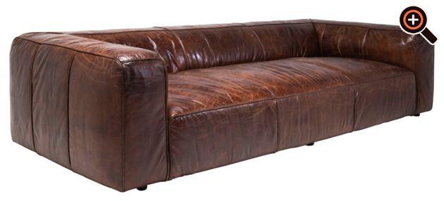 modernes sofa designer couch f rs wohnzimmer aus leder schwarz wei braun magazine. Black Bedroom Furniture Sets. Home Design Ideas